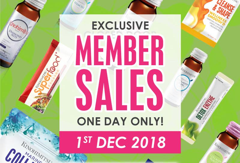 One Day Only: Member's Sale – 1st December 2018