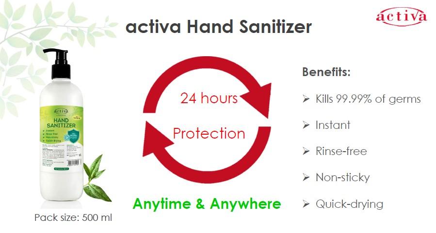 Activa Hand Sanitizer Info 1