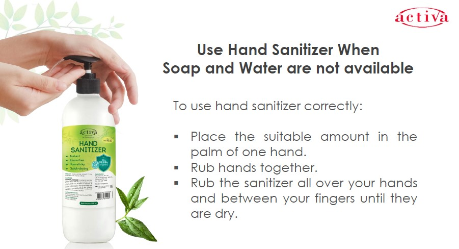 Activa Hand Sanitizer Info 2