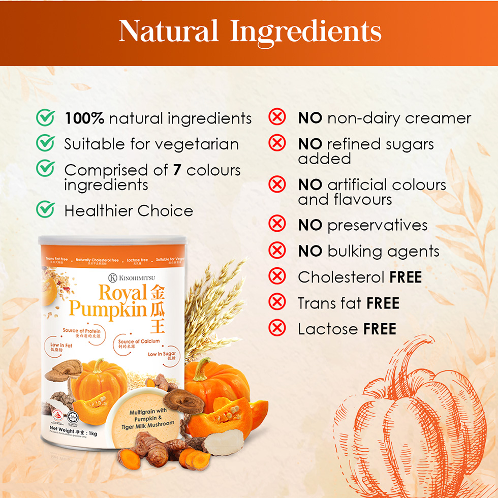 Kinohimitsu Royal Pumpkin 1kg is made only from natural ingredients